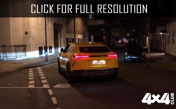 Two Lamborghini Urus seen on the streets of London evening